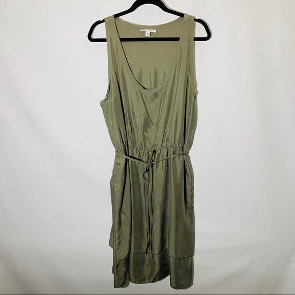 Banana Republic Dresses & Skirts - Banana Republic olive silk dress w raw edge, XL